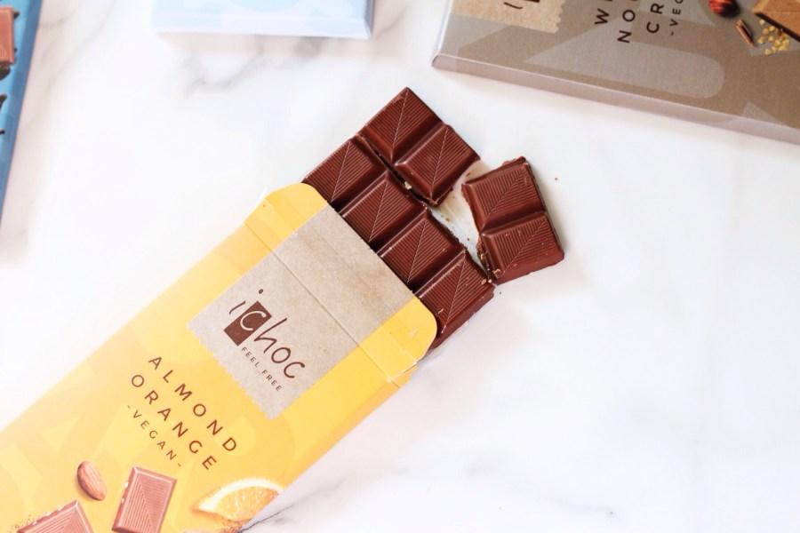 iChoc Vegan Chocolate Almond Orange