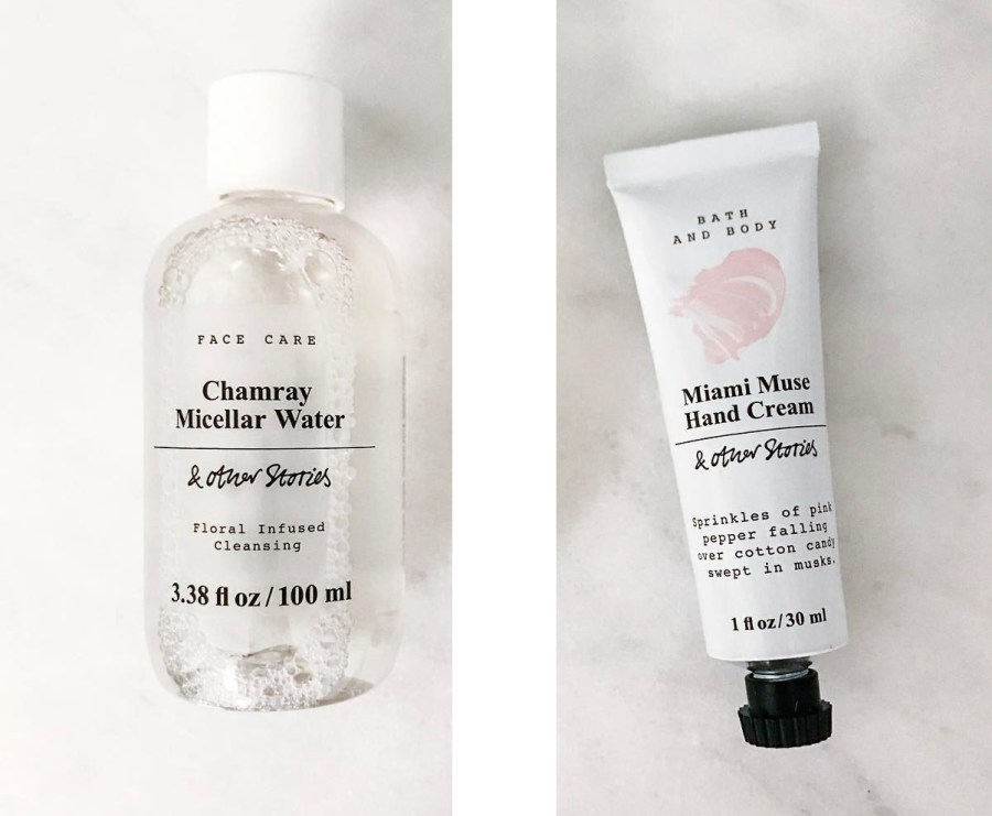 And Other Stories Chamrey Micellar Water and Miami Muse Hand Cream