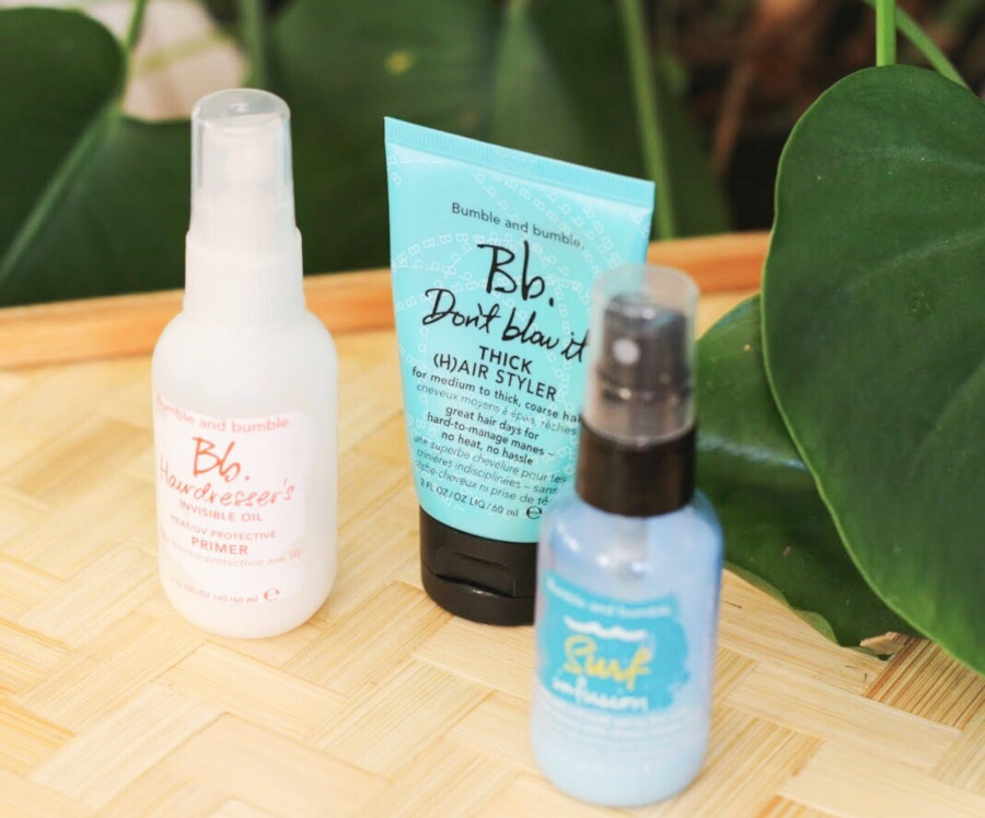 Bumble and Bumble Oil Primer, Don't Blow it and Surf Infusion review