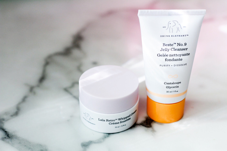 Drunk Elephant The Littles Lala Retro Whipped Cream moisturizer and Jelly Cleanser