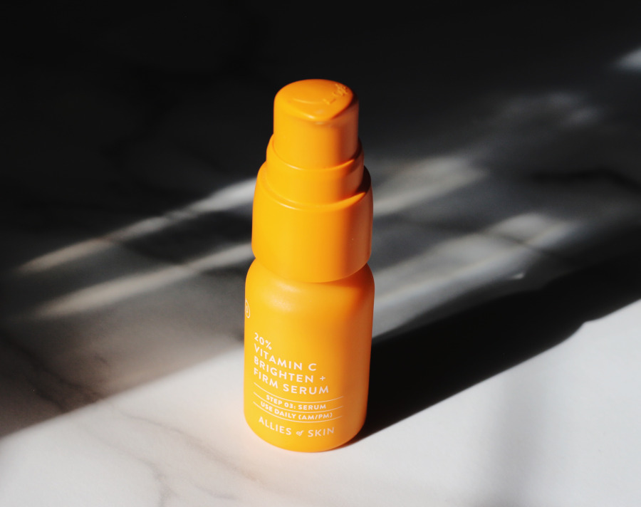 Allies of Skin 20 percent vitamin C brighten firm serum review