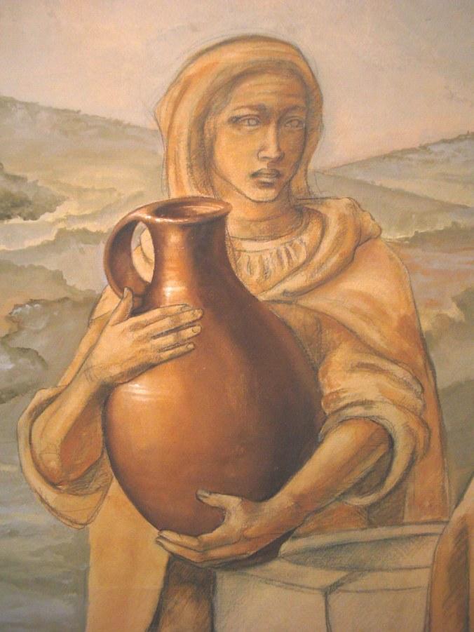 Samaritan woman detail