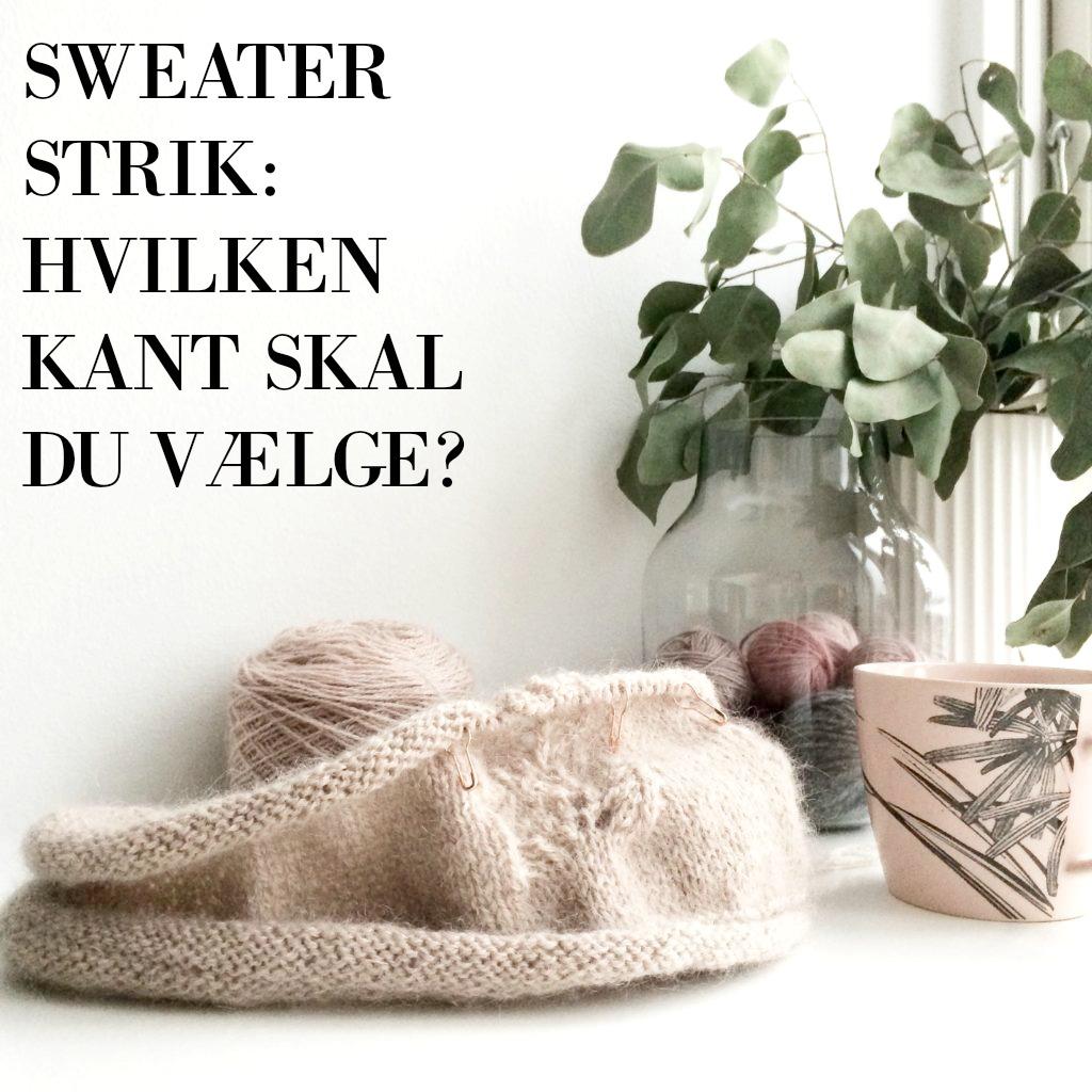 Kanten på din sweater