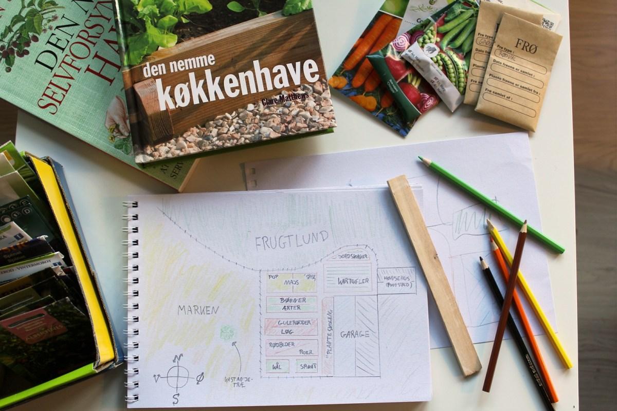 Planlægning af året køkkenhave