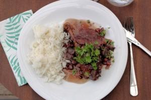 coq-au-vin, persille, ris, bacon, champignon