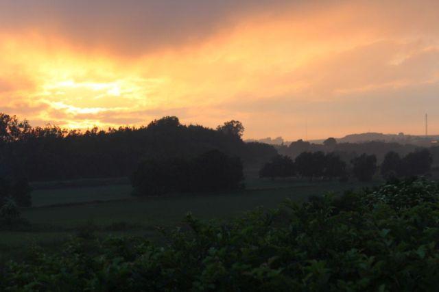 karup-aa, solnedgang