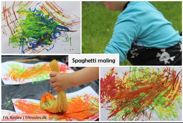 spaghetti-maling, kreativ-leg, udendørsleg,kreativ-børn, børn, kreativ-boern, kunst, maling