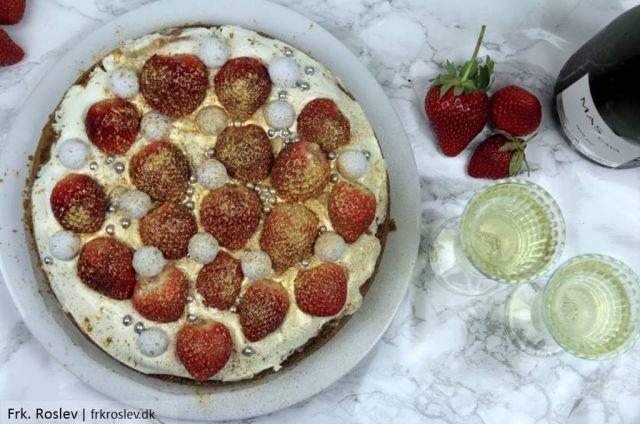 champagne-cheesecake, cheesecake, nytaar, nytaarsdessert, dessert