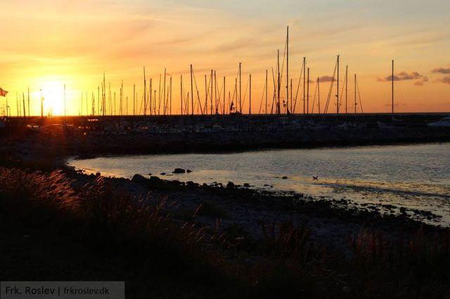 solnedgang, sheltertur, visit-odsherred, havnebyen, sjaellands-odde