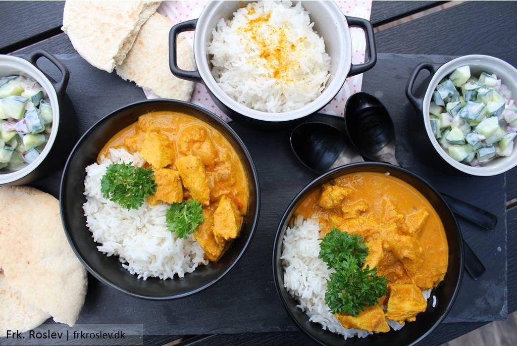 Chicken Tikka Masala med Raita