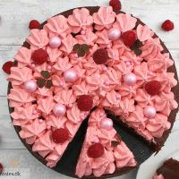 Chokolade squashkage med hindbær smørcreme