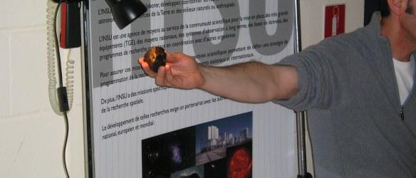 Exposition astronomie : la météorite