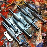 Self welded canvas stretchers for the frames