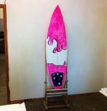 Top of the new surfboard.