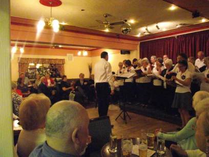 Fun Night entertaining Frodsham Stroke Club members!