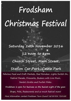 Not long until Frodsham Christmas Festival…..