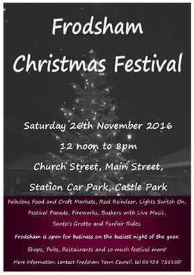 Not long until Frodsham Christmas Festival…..