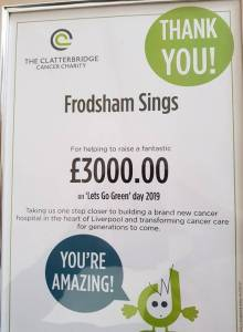 Going Green for Clatterbridge drives an amazing result!