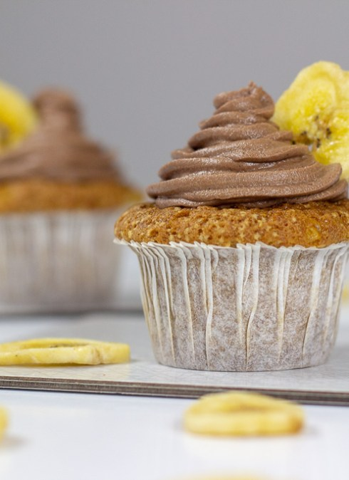 Banan cupcakes med nutella frosting