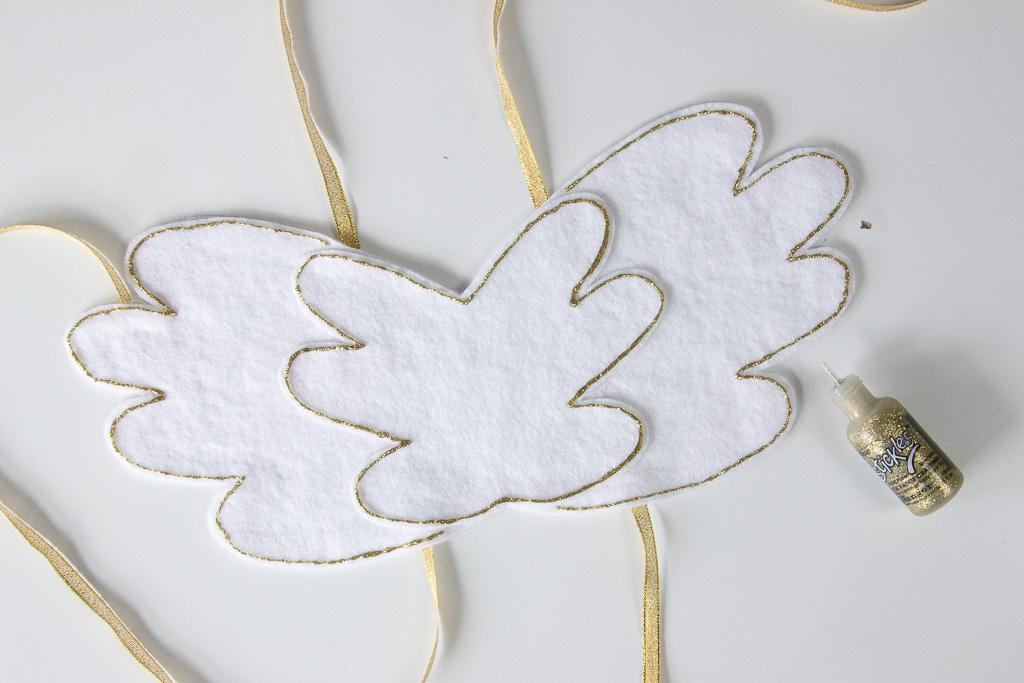 DIY enhjørning vinger med glimmerlim