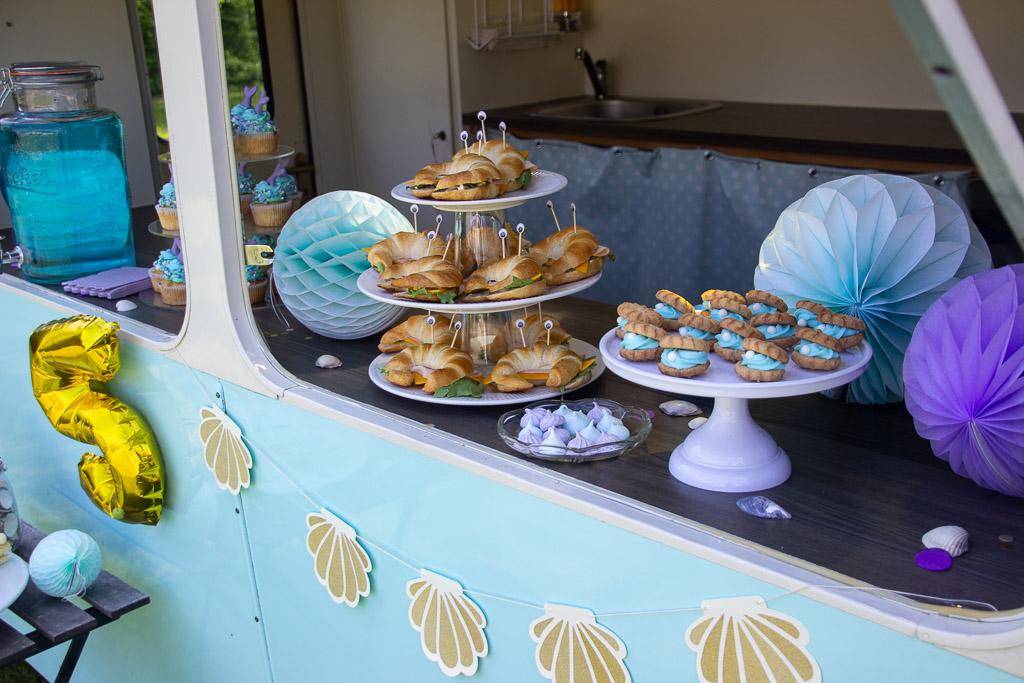 5 års fødselsdagsfest med havfrue tema