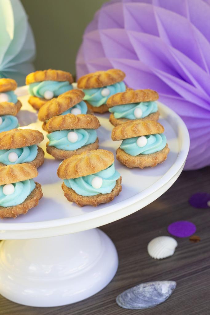 Muslingekager til havfrue fødselsdag