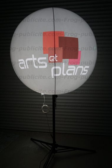 art plan ballon trepied 120cm