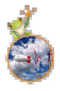 Frog publicité: spécialiste des structures gonflables publicitaires et PLV