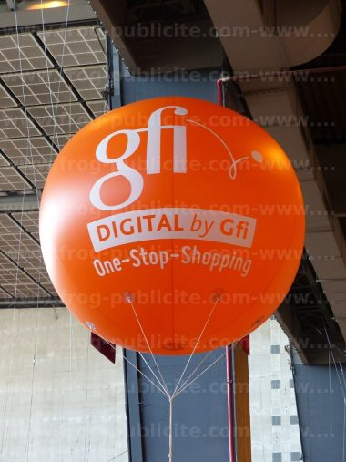 ballon géant hélium 2m orange GFI