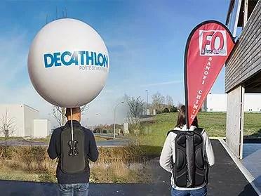 Ballon publicitaire g ant structure gonflable h lium ou air - Faire tenir des ballons en l air sans helium ...