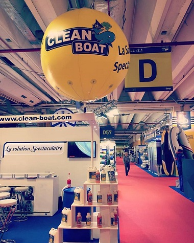 structure gonflable publicitaire au Salon Nautic 2016 | Clean Boat