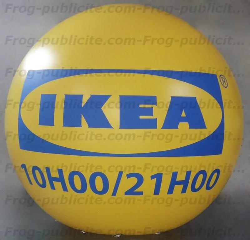 ballon publicitaire h lium de 3m50 pour ikea reims frog publicit. Black Bedroom Furniture Sets. Home Design Ideas