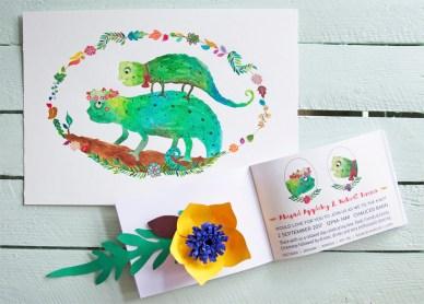 Abi & Rob Little Bespoke Book Wedding Invitation, invite page & original.