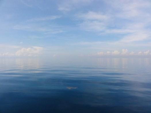 べた凪の海