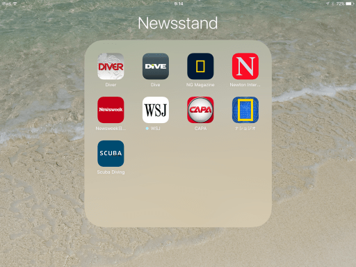 Newsstandフォルダ