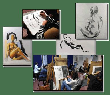 Cours de Modèle Vivant FROGGY ART - Lyon 6