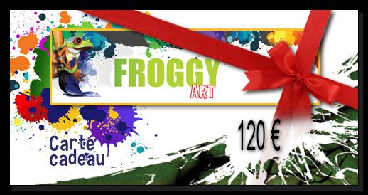 Chèque cadeau 120,00€ FROGGY ART - Lyon Morancé