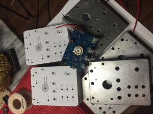 Drill Templates and drilled enclosures, Frog Tube Preamp Fx1