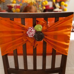 Fall Chair Covers Lean Back Chic Tie Backs With Fabric Rosettes Frog Prince