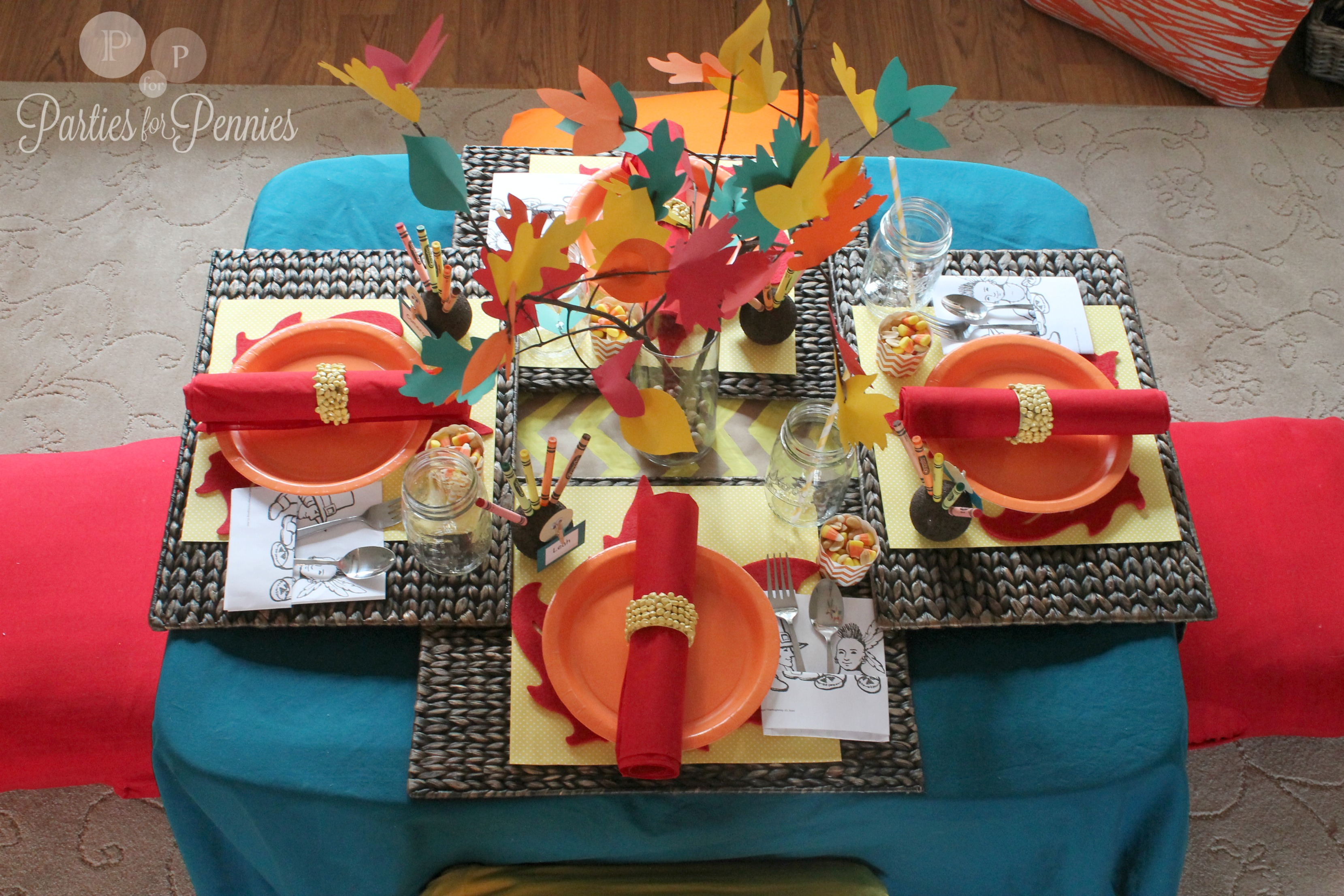 Top 10 Thanksgiving Kid Tables  Frog Prince Paperie