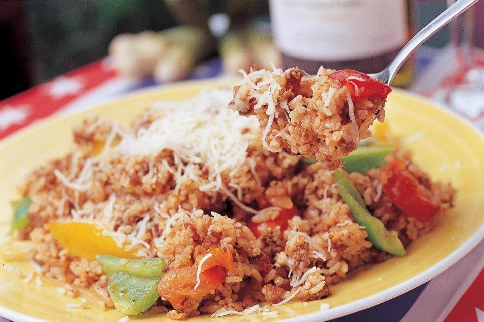Mexican Stir-fried Rice wBeef墨西哥辣肉飯