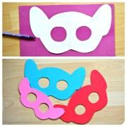 diy trolls inspired masks and hair