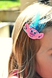 trolls inspired hair clips - frogs