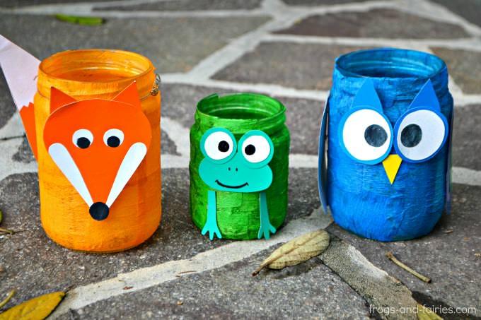 Animal Mason Jar Lanterns  Frogs and Fairies
