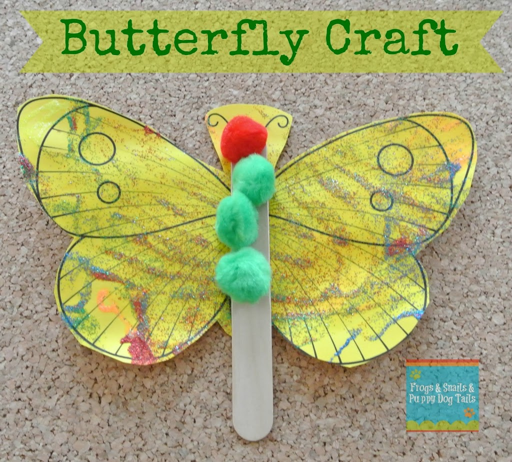 Butterfly Craft A Great Activity For The Very Hungry
