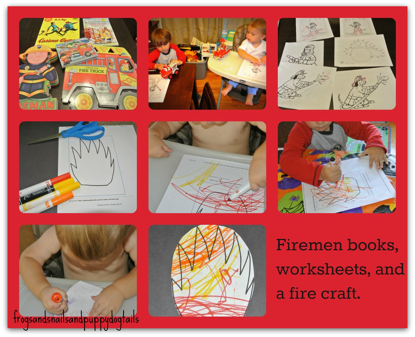 Firefighter Books And Easy Fire Craft Coloring Sheets