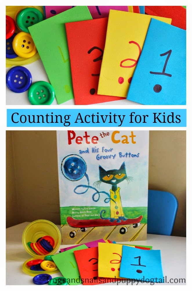 Pete The Cat And His Four Groovy Buttons Counting