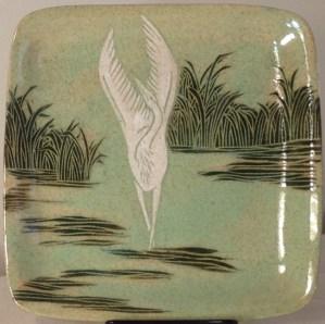 "Heron, 8"" plate"