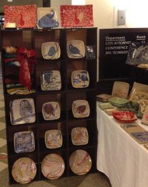Booth display at Women's Festival of Crafts, 2012
