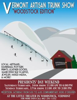 Vermont Artisan Trunk Show - Woodstock - Poster Image
